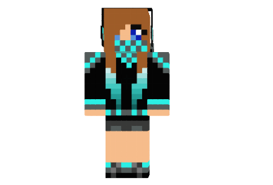 Cool Girl With Creeper Back скин для Minecraft
